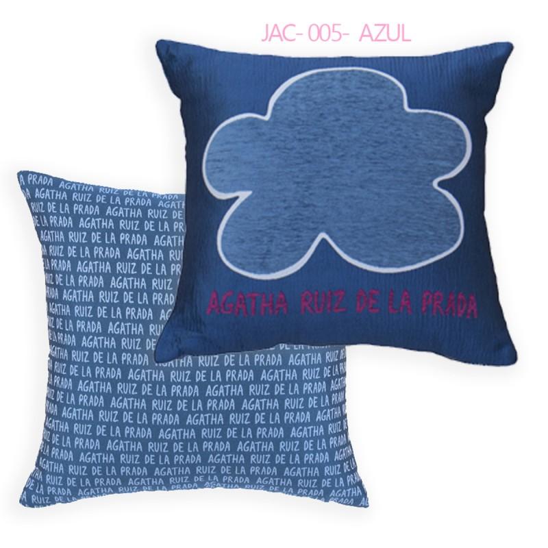 Agatha Ruiz De La Prada Cojines.Cojin Agatha Ruiz De La Prada Reversible Jac 005 Azul